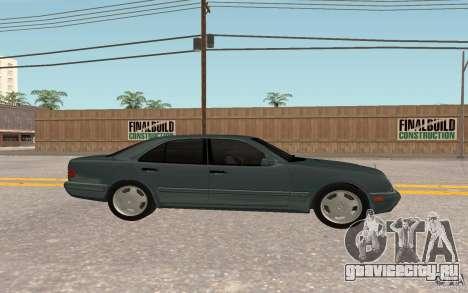 Mercedes Benz E420 W210 для GTA San Andreas вид сзади слева