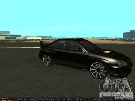 Subaru Impreza WRX для GTA San Andreas вид слева