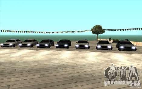 Mercedes-Benz S65 AMG с мигалками для GTA San Andreas вид сзади слева