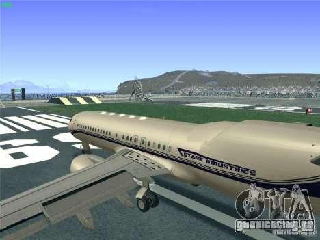 Boeing 737 Iron Man Bussines Jet для GTA San Andreas вид изнутри