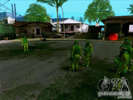 Morpeh лесной камуфляж для GTA San Andreas четвёртый скриншот