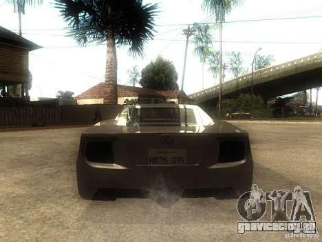Lexus LFA Custom для GTA San Andreas вид сзади слева