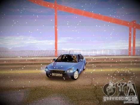 Lada Priora Turbo v2.0 для GTA San Andreas вид изнутри