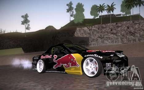 Mazda RX7 Madmikes Redbull для GTA San Andreas вид изнутри