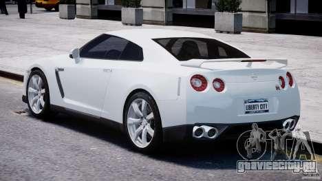 Nissan Skyline GT-R R35 для GTA 4 вид сзади слева