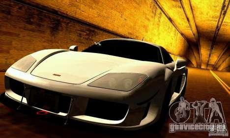 Noble M600 для GTA San Andreas вид снизу