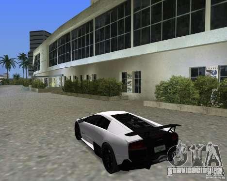 Lamborghini Murcielago LP670-4 SV для GTA Vice City вид справа