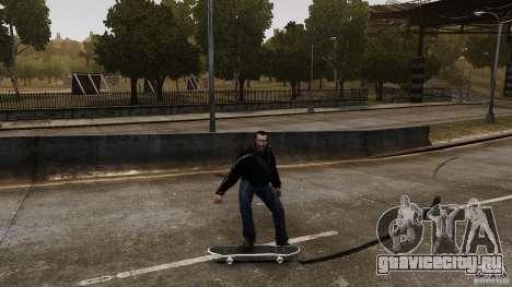 Скейтборд №4 для GTA 4 вид сзади