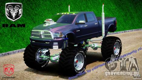 Dodge Ram 3500 2010 Monster Bigfut для GTA 4