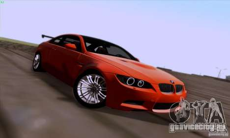 BMW M3 E92 v1.0 для GTA San Andreas вид сверху