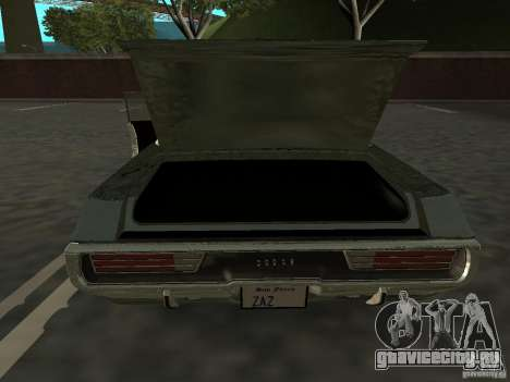 Dodge Polara Police 1971 для GTA San Andreas вид справа