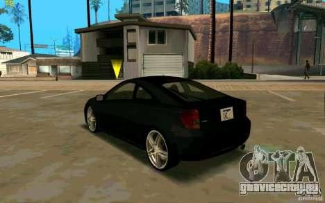 Toyota Celica 2005 для GTA San Andreas вид сзади слева