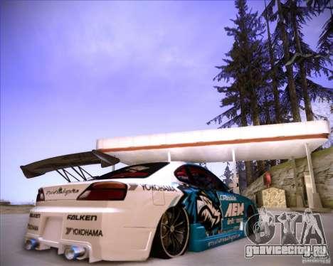 Nissan Silvia S15 Blue Tiger для GTA San Andreas вид сзади слева