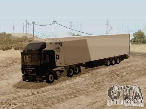 MAN F2000 6x4 для GTA San Andreas вид сзади слева