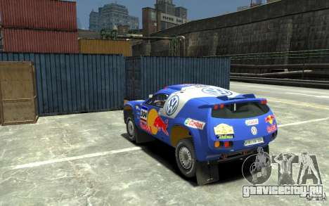 Volkswagen Touareg Rally для GTA 4 вид сзади слева