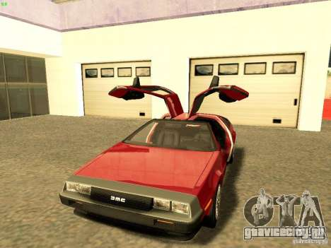 DeLorean DMC-12 V8 для GTA San Andreas вид справа