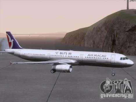 Airbus A321 Air Macau для GTA San Andreas вид сверху
