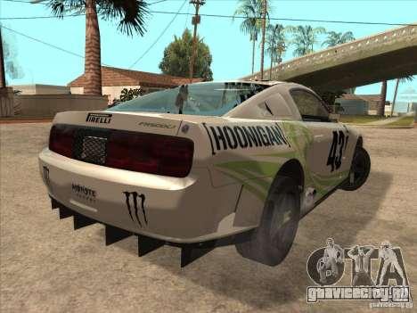 Ford Mustang Ken Block для GTA San Andreas вид сзади слева
