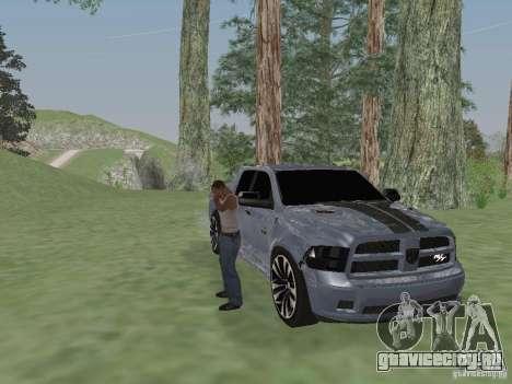 Dodge Ram R/T 2011 для GTA San Andreas вид сзади слева