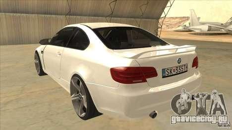 BMW 335i Coupe 2011 для GTA San Andreas вид сзади слева