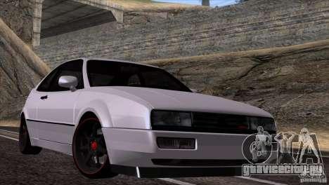 Volkswagen Corrado VR6 для GTA San Andreas вид сзади слева