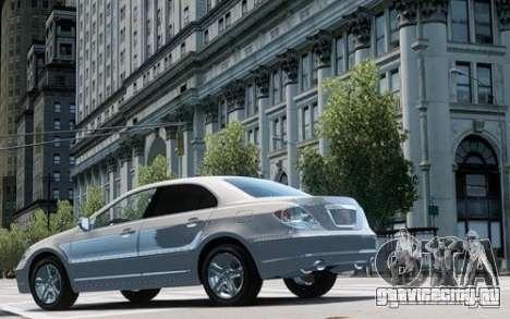 Acura RL 2006 для GTA 4 вид сзади слева