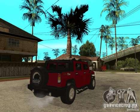 AMG H2 HUMMER SUT для GTA San Andreas вид сзади слева