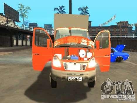 ГАЗель 33022 для GTA San Andreas вид изнутри