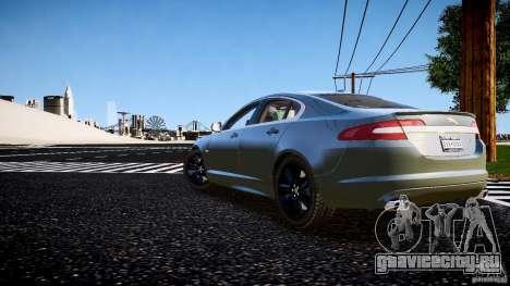 Jaguar XFR 2010 для GTA 4 вид слева