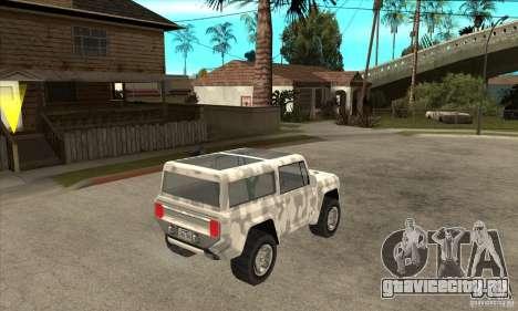 Ford Bronco Concept для GTA San Andreas вид справа