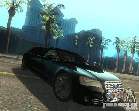 Audi A8 2011 Limo для GTA San Andreas вид справа