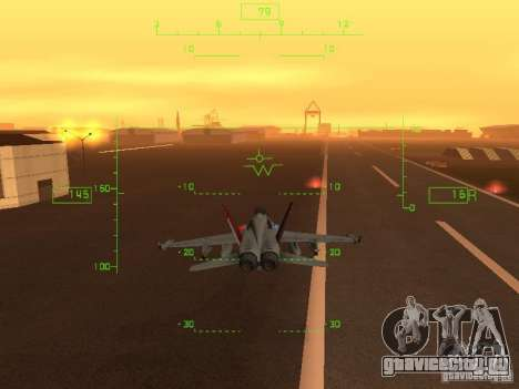 Авиационный HUD для GTA San Andreas четвёртый скриншот
