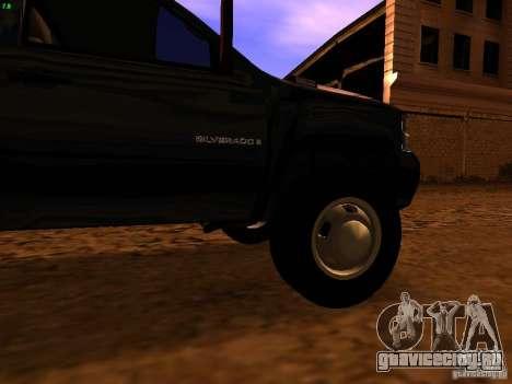 Chevrolet Silverado HD 3500 2012 для GTA San Andreas вид сзади