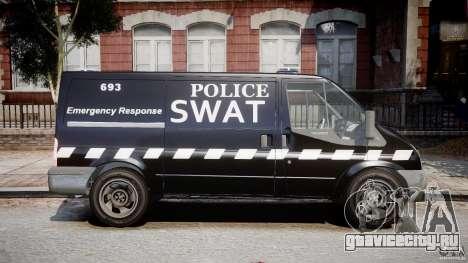Ford Transit SWAT [ELS] для GTA 4 вид сзади