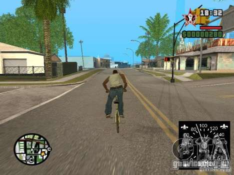 Новый спидометр для GTA San Andreas третий скриншот