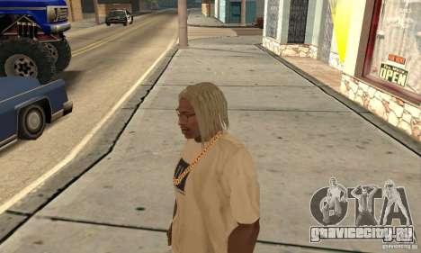 Длинные светлые волосы для GTA San Andreas