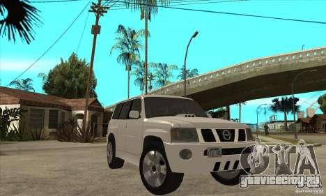 Nissan Patrol 2005 Stock для GTA San Andreas вид изнутри
