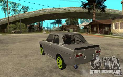 Datsun 510 Drift для GTA San Andreas вид сзади слева