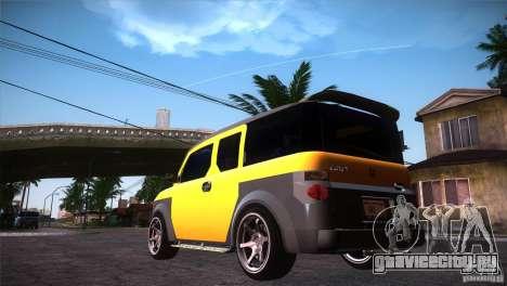 Honda Element LX для GTA San Andreas вид сзади слева