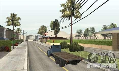 КрАЗ - 257 для GTA San Andreas вид сзади слева