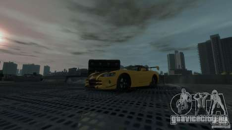 Dodge Viper SRT-10 ACR 2009 для GTA 4 вид сзади