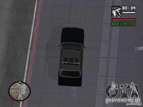 Admiral SFPD для GTA San Andreas вид сзади слева