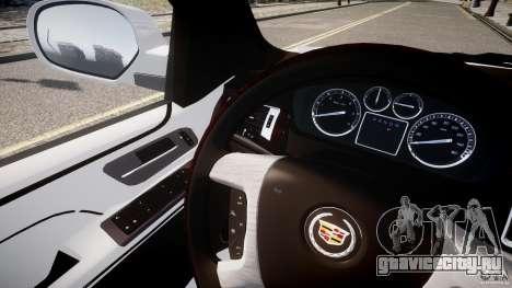 Cadillac Escalade ESV для GTA 4 вид изнутри