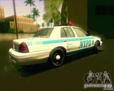 Ford Crown Victoria 2003 NYPD police V2.0 для GTA San Andreas вид слева