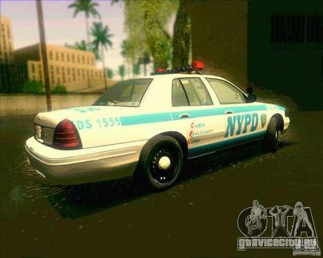 Ford Crown Victoria 2003 NYPD police V2.0 для GTA San Andreas вид слева