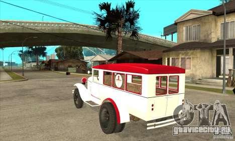 ГАЗ АА Скорая помощь для GTA San Andreas вид сзади слева