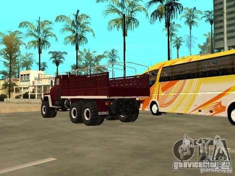 КрАЗ 260 для GTA San Andreas вид изнутри
