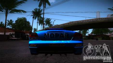 Dodge Viper Mopar Drift для GTA San Andreas вид сзади слева