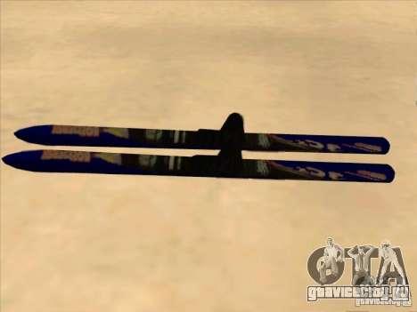 Ski - лыжи для GTA San Andreas вид слева