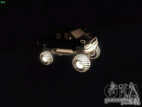 GMC Monster Truck для GTA San Andreas вид слева